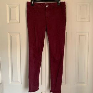 American Eagle Maroon Jeggings Size 8